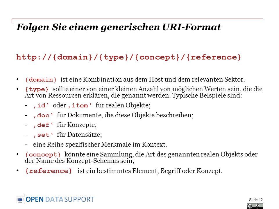 Folgen Sie einem generischen URI-Format