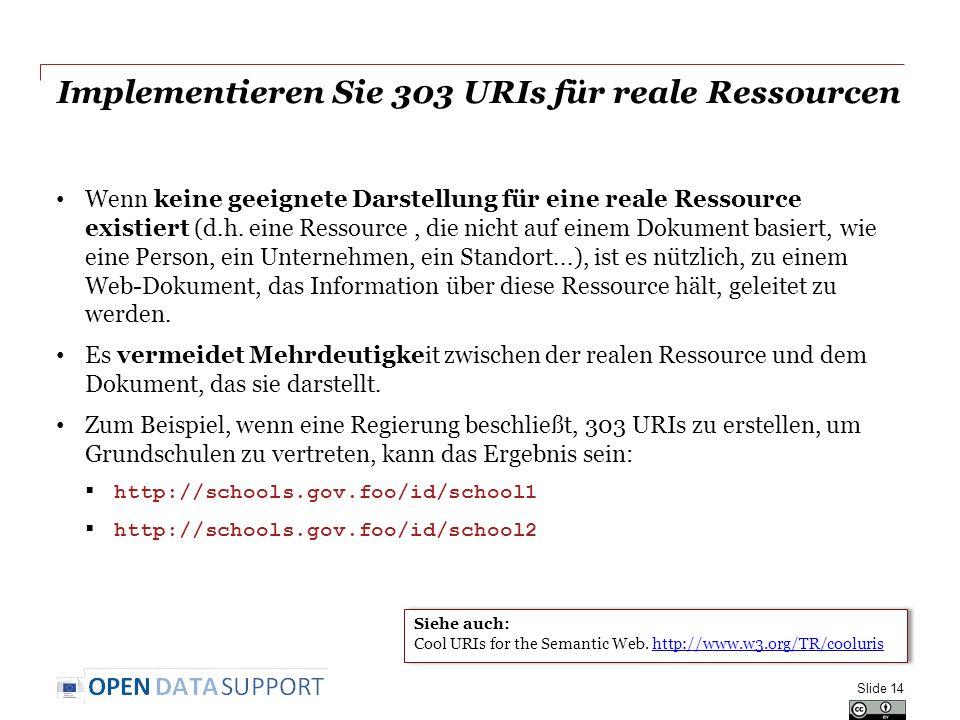 Implementieren Sie 303 URIs für reale Ressourcen
