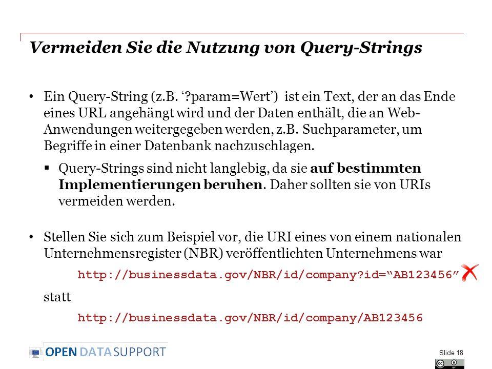 Vermeiden Sie die Nutzung von Query-Strings