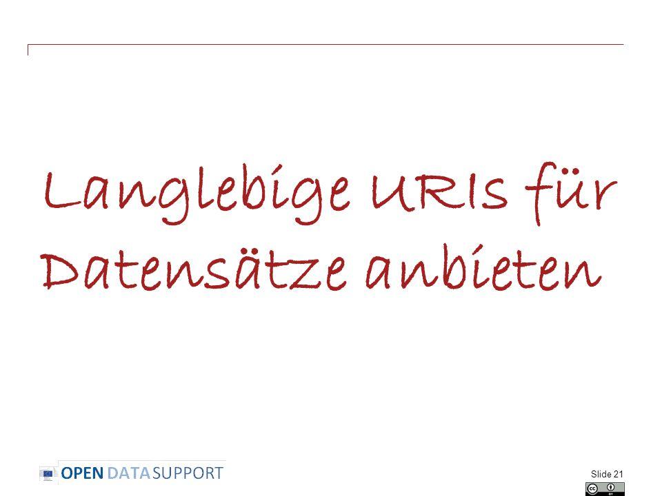 Langlebige URIs für Datensätze anbieten