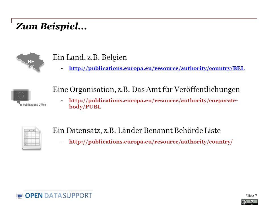 Zum Beispiel... Ein Land, z.B. Belgien