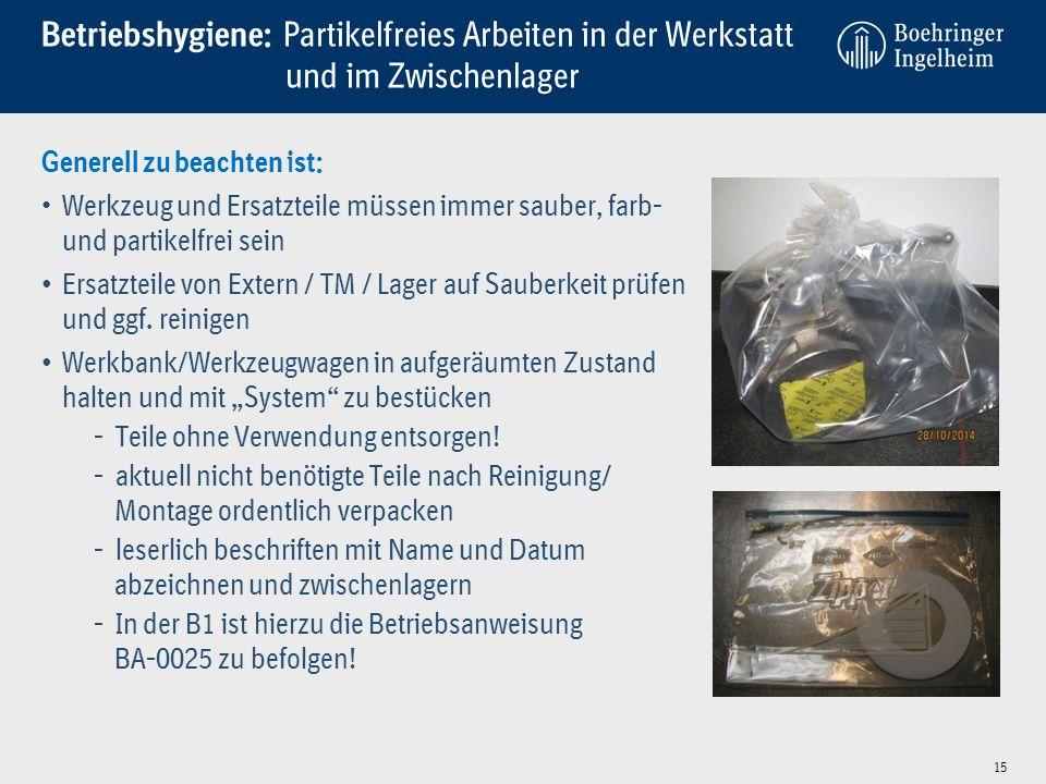 Betriebshygiene: Partikelfreies Arbeiten in der Werkstatt