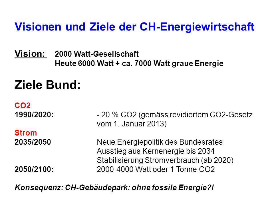 Visionen und Ziele der CH-Energiewirtschaft