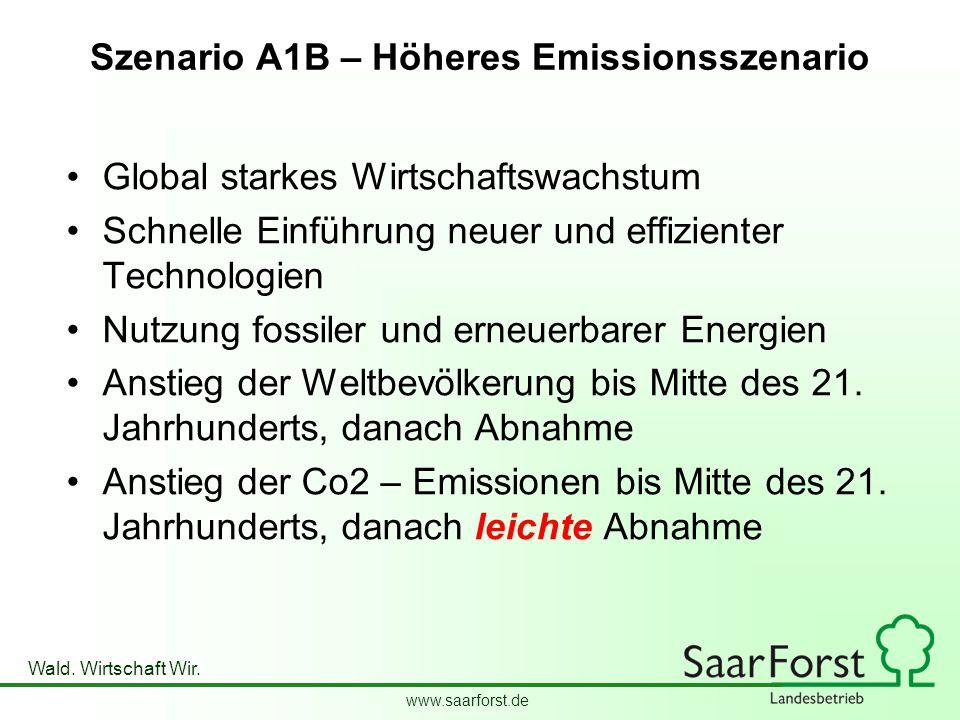 Szenario A1B – Höheres Emissionsszenario
