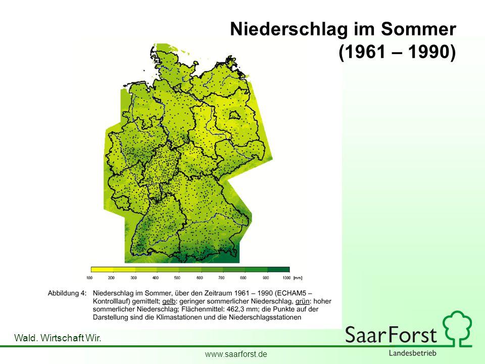 Niederschlag im Sommer (1961 – 1990)