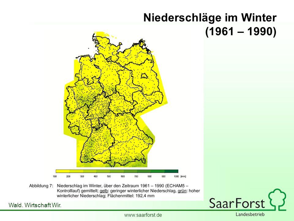 Niederschläge im Winter (1961 – 1990)