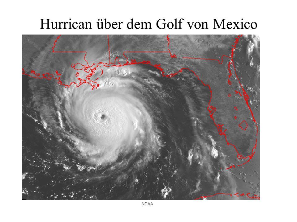 Hurrican über dem Golf von Mexico