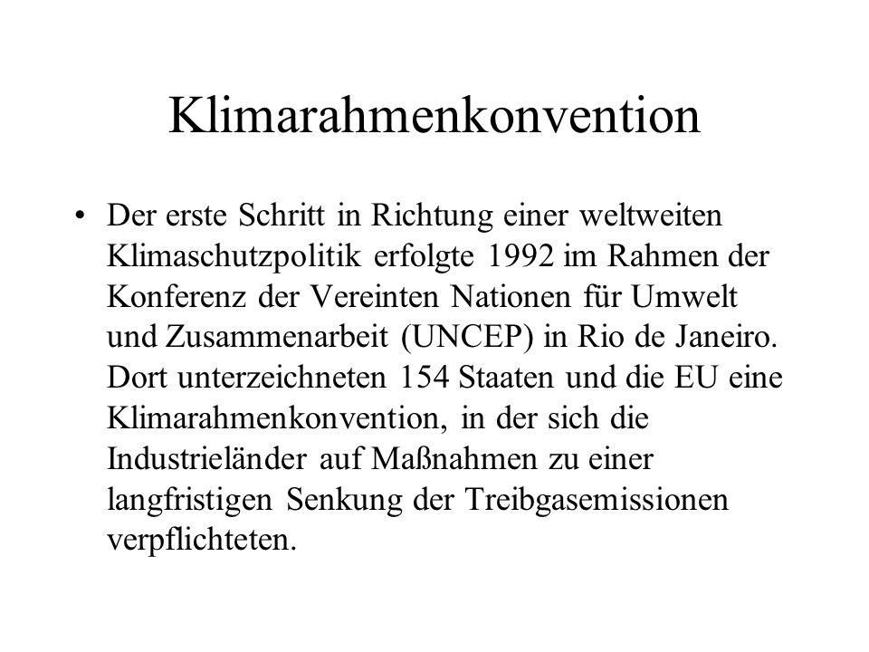 Klimarahmenkonvention