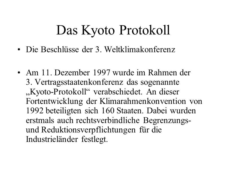 Das Kyoto Protokoll Die Beschlüsse der 3. Weltklimakonferenz