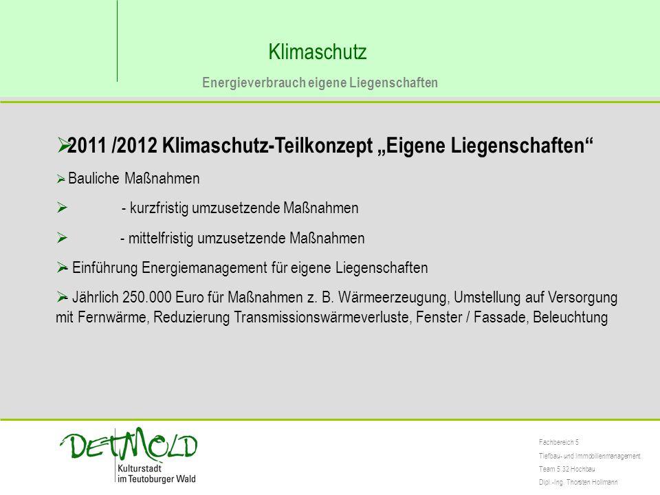 """2011 /2012 Klimaschutz-Teilkonzept """"Eigene Liegenschaften"""