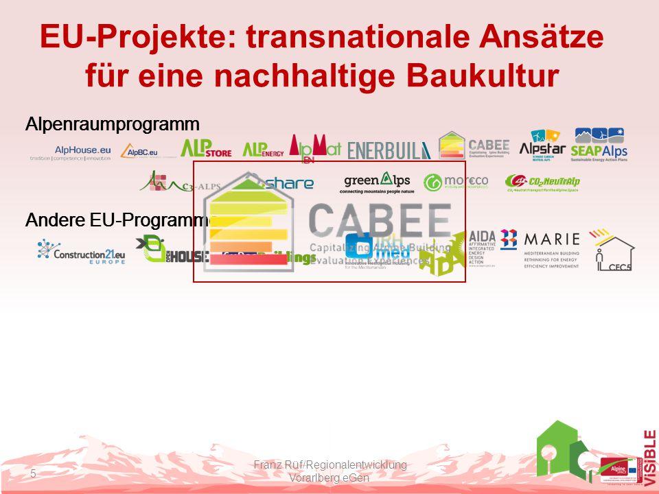 EU-Projekte: transnationale Ansätze für eine nachhaltige Baukultur