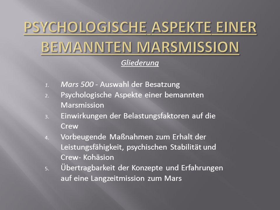 Psychologische Aspekte einer bemannten Marsmission