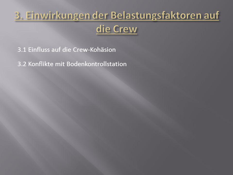 3. Einwirkungen der Belastungsfaktoren auf die Crew