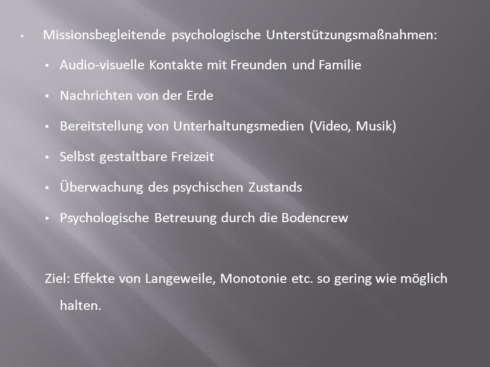Missionsbegleitende psychologische Unterstützungsmaßnahmen: