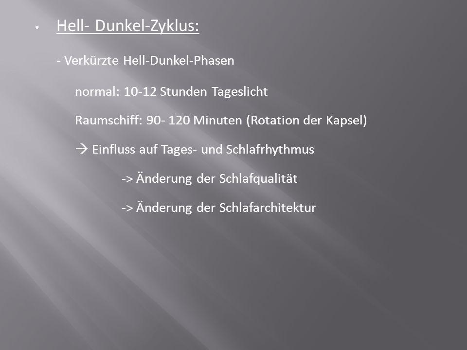 - Verkürzte Hell-Dunkel-Phasen
