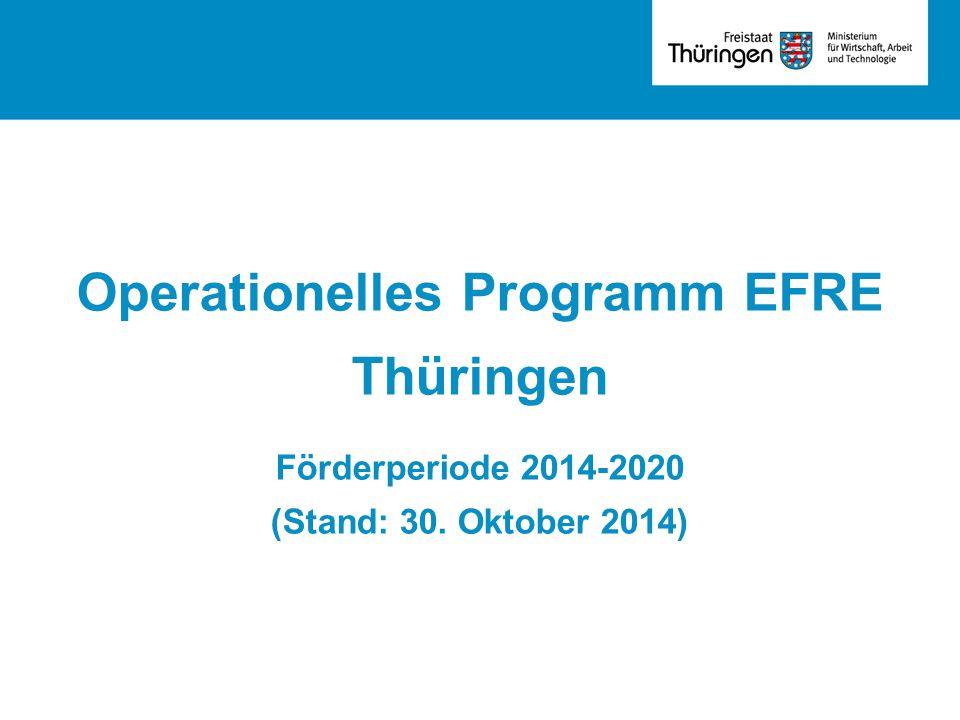 Operationelles Programm EFRE Thüringen