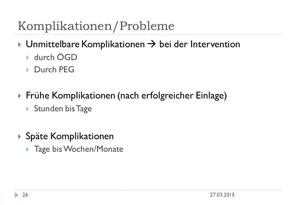 Komplikationen/Probleme
