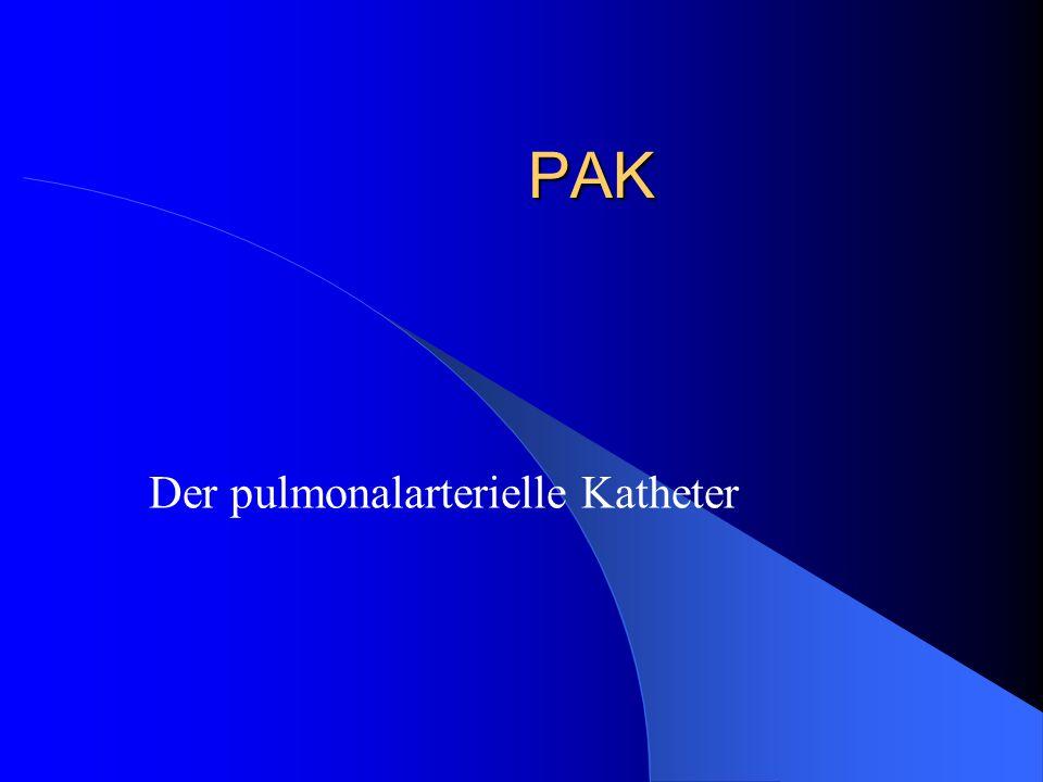 Der pulmonalarterielle Katheter