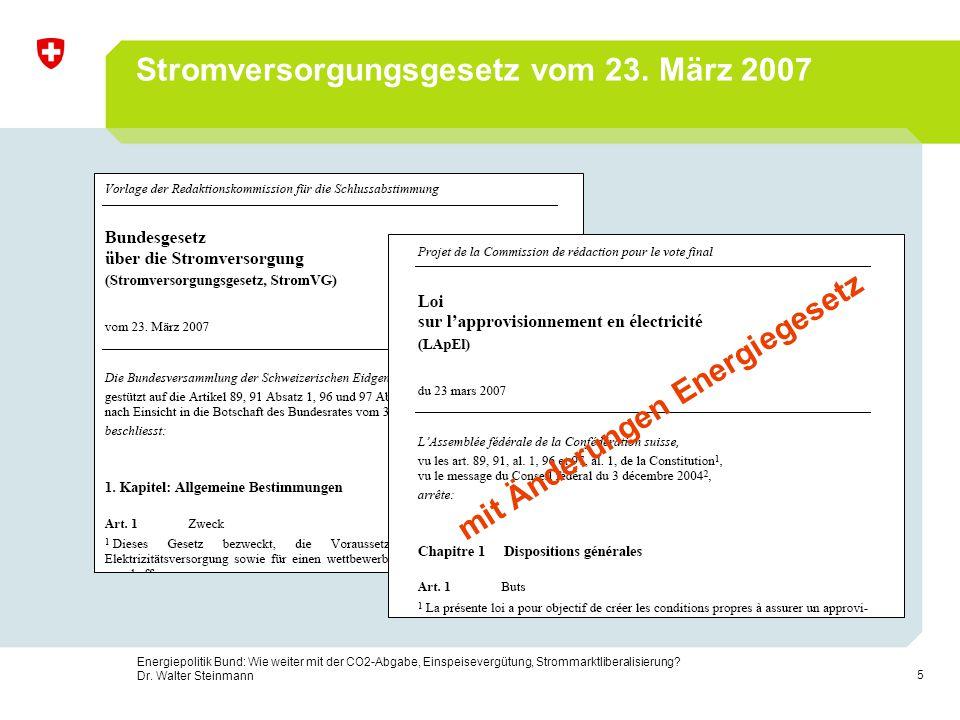 Stromversorgungsgesetz vom 23. März 2007