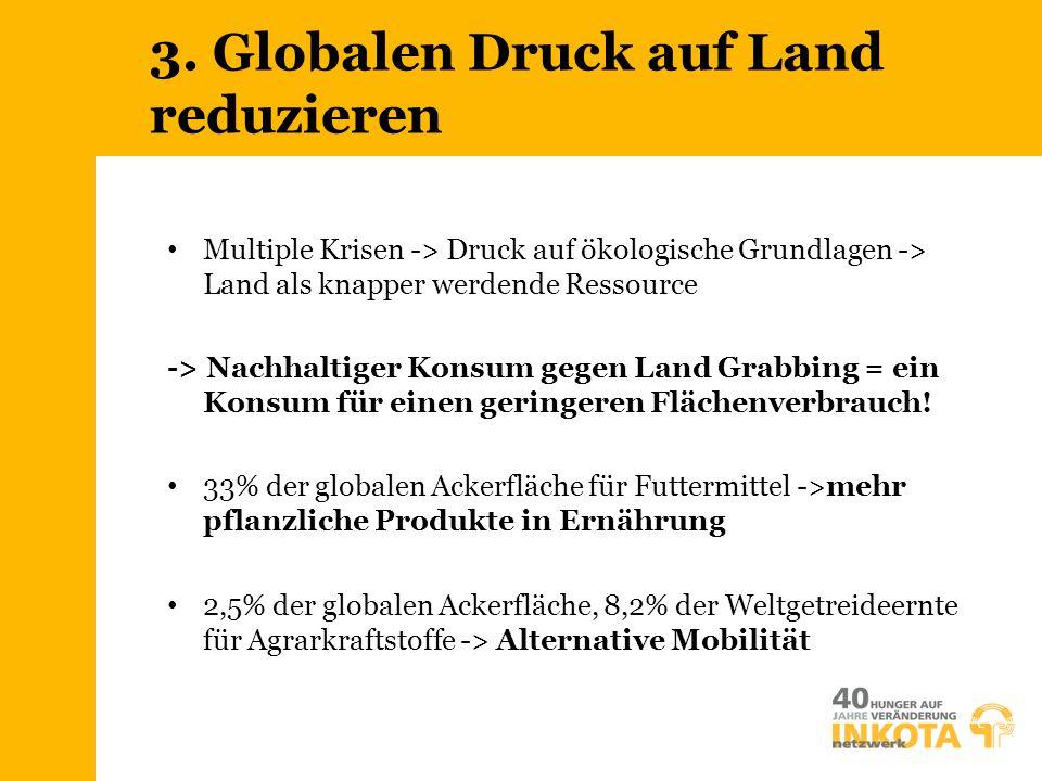 3. Globalen Druck auf Land reduzieren