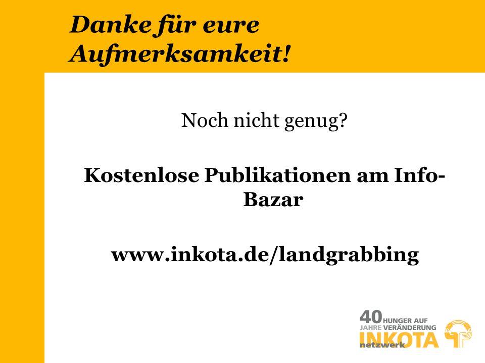 Kostenlose Publikationen am Info- Bazar