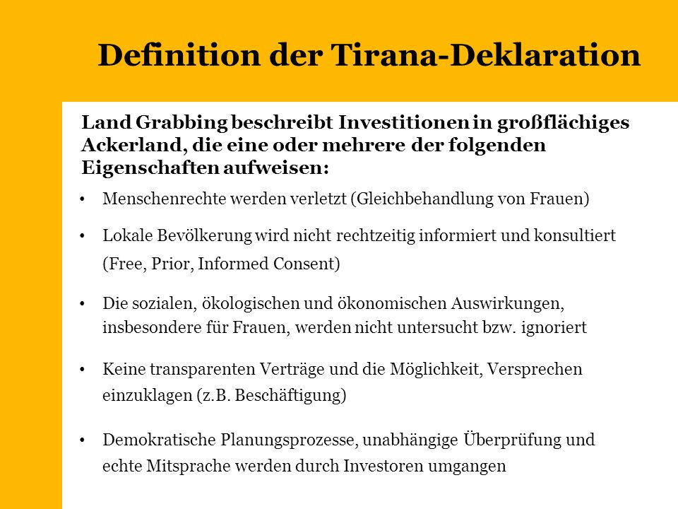 Definition der Tirana-Deklaration