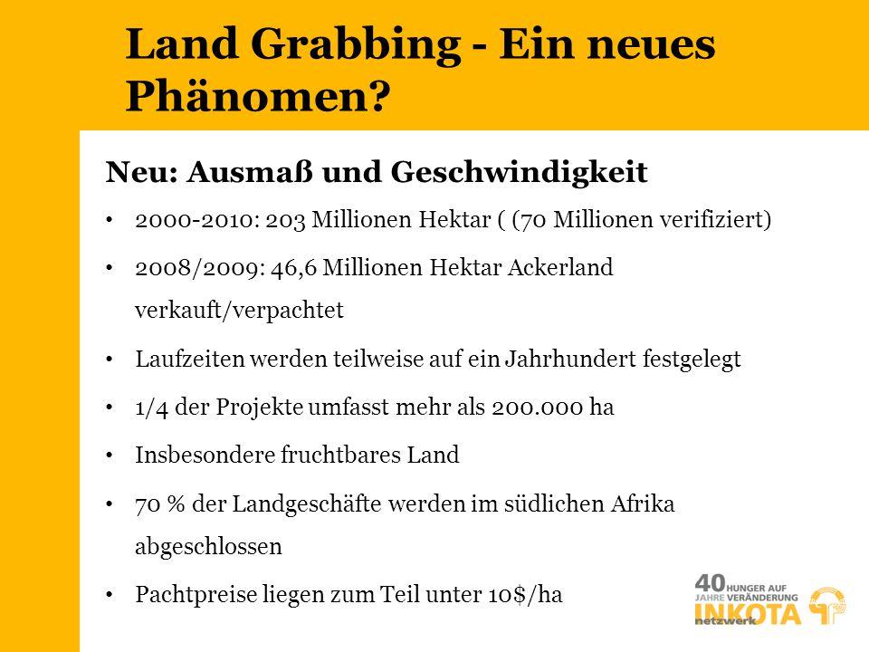 Land Grabbing - Ein neues Phänomen