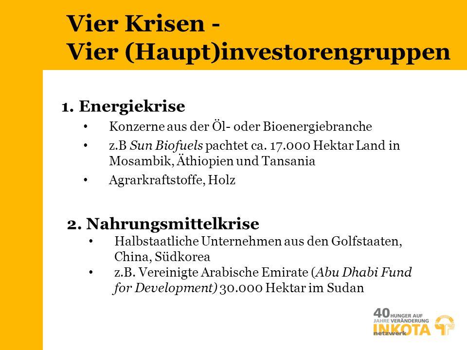 Vier Krisen - Vier (Haupt)investorengruppen