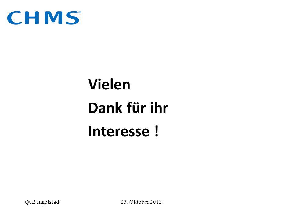 Vielen Dank für ihr. Interesse . QuB Ingolstadt 23.