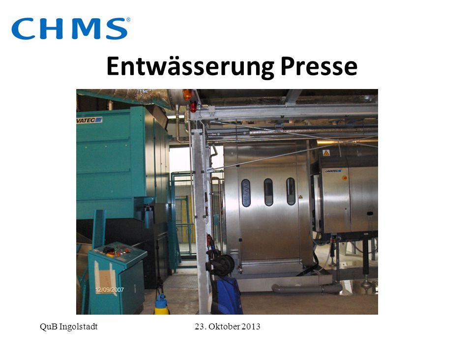 Entwässerung Presse QuB Ingolstadt 23. Oktober 2013