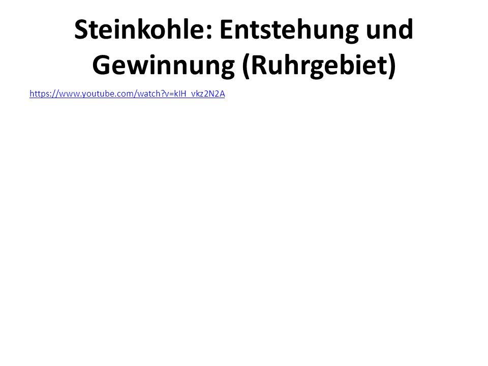 Steinkohle: Entstehung und Gewinnung (Ruhrgebiet)