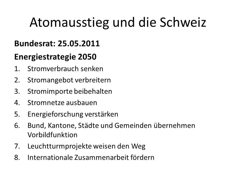 Atomausstieg und die Schweiz