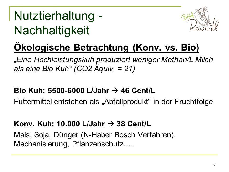 Nutztierhaltung - Nachhaltigkeit
