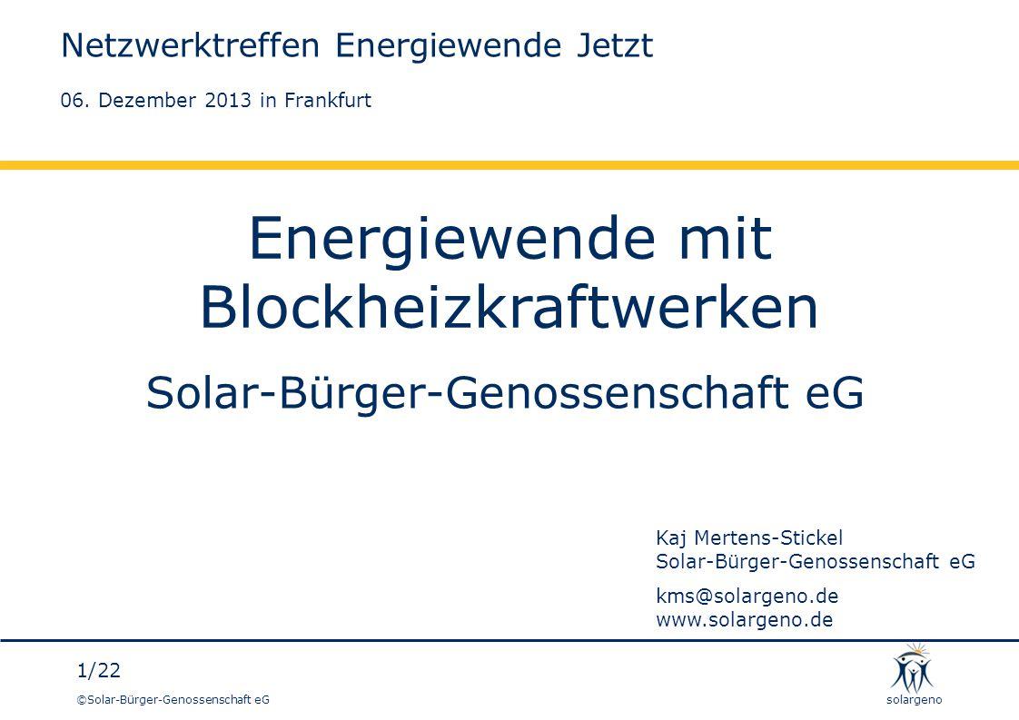 Energiewende mit Blockheizkraftwerken