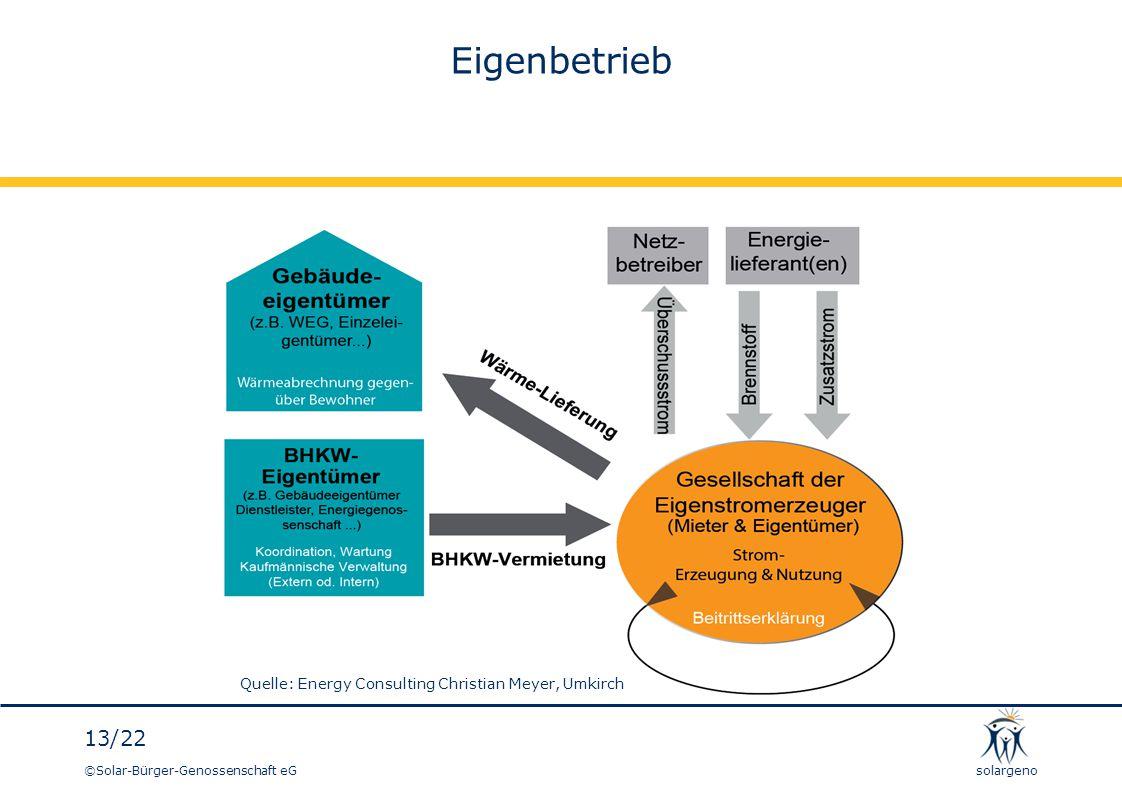 Eigenbetrieb Quelle: Energy Consulting Christian Meyer, Umkirch