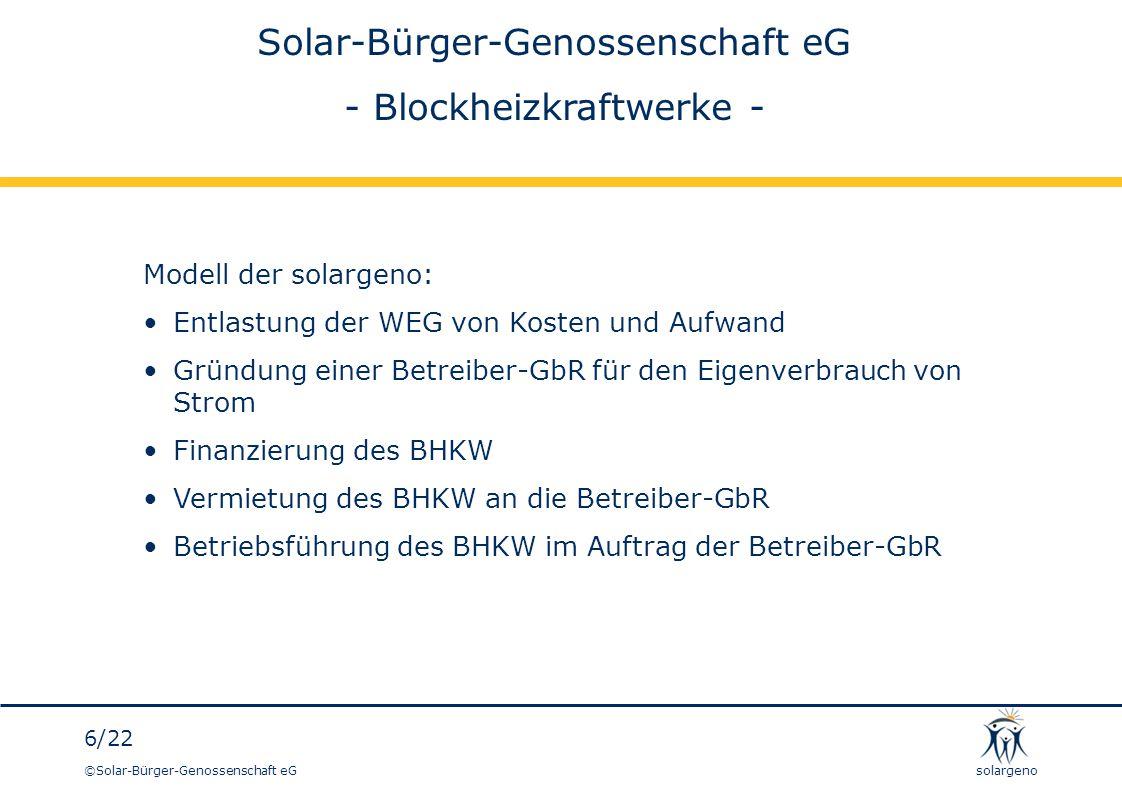 Solar-Bürger-Genossenschaft eG - Blockheizkraftwerke -