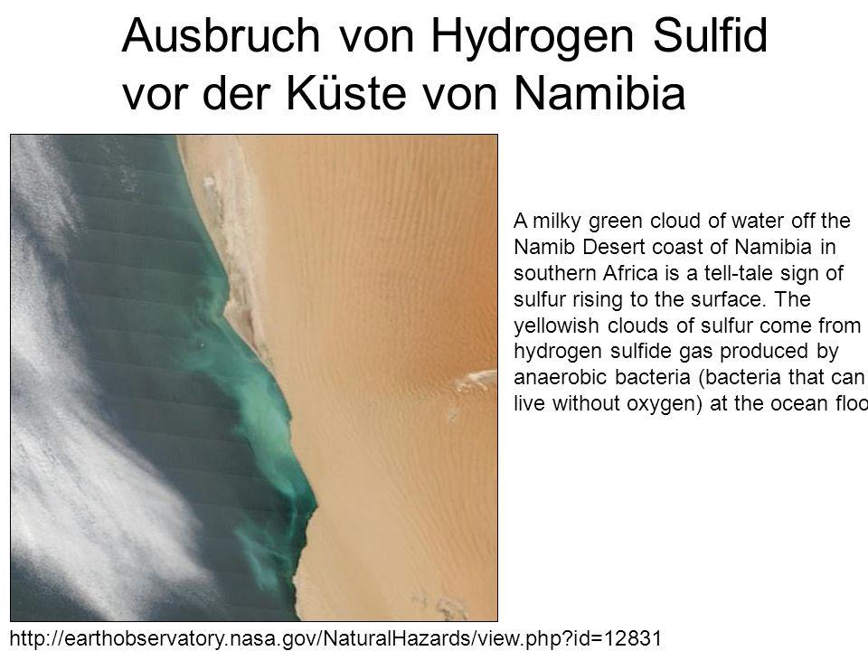 Ausbruch von Hydrogen Sulfid vor der Küste von Namibia