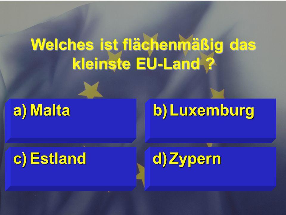 Welches ist flächenmäßig das kleinste EU-Land