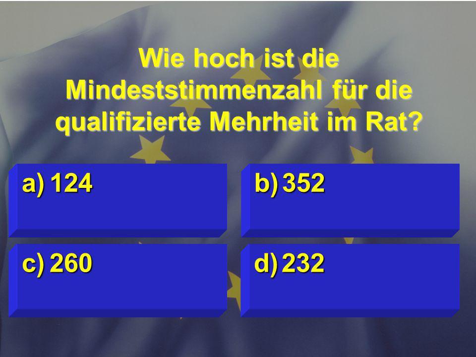 Wie hoch ist die Mindeststimmenzahl für die qualifizierte Mehrheit im Rat