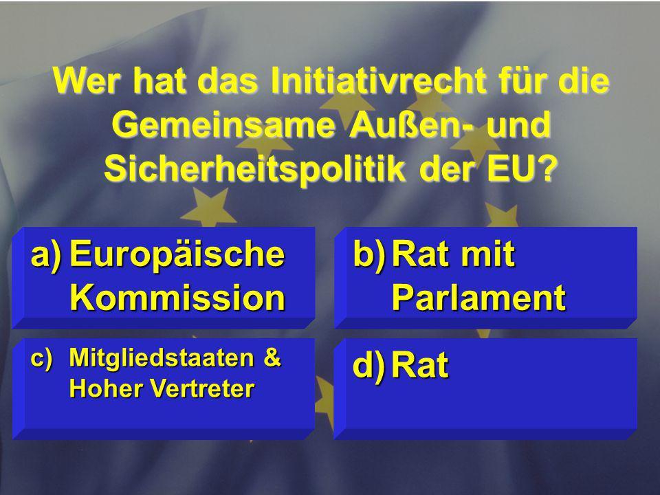 Europäische Kommission Rat mit Parlament