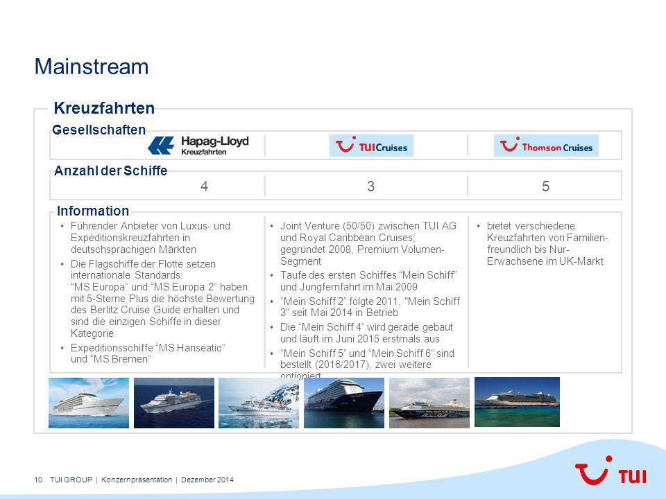 Mainstream Kreuzfahrten 4 3 5 Gesellschaften Anzahl der Schiffe