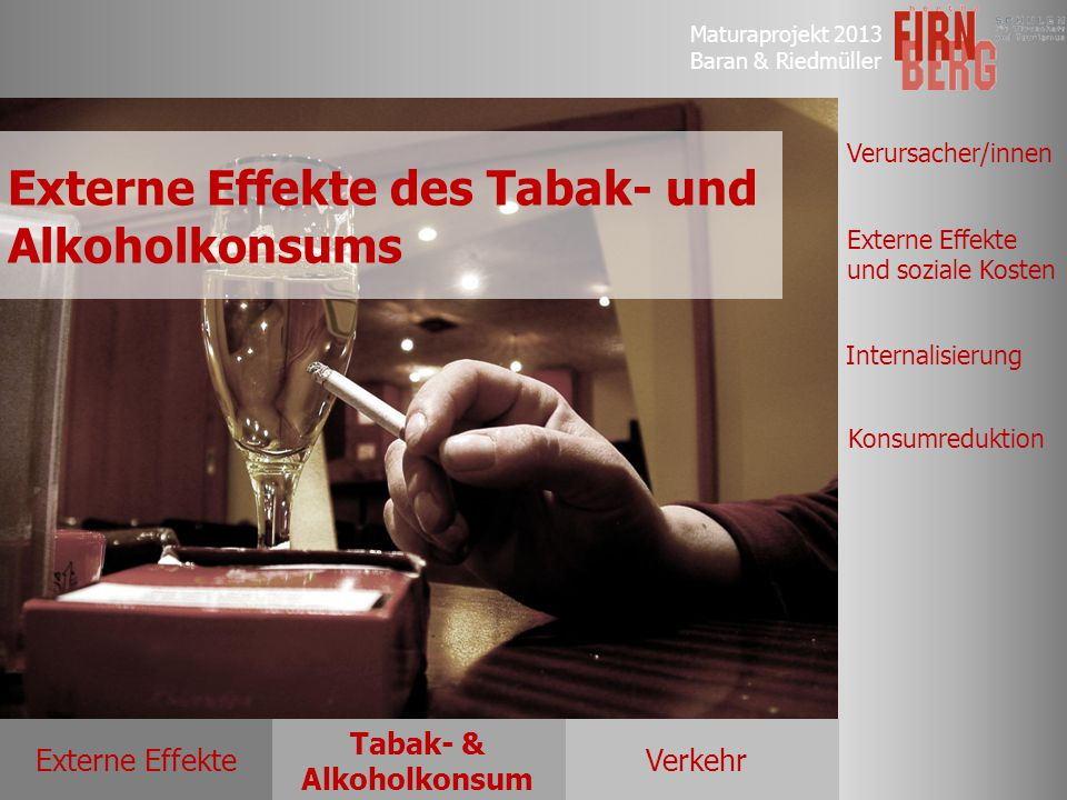 Externe Effekte des Tabak- und Alkoholkonsums