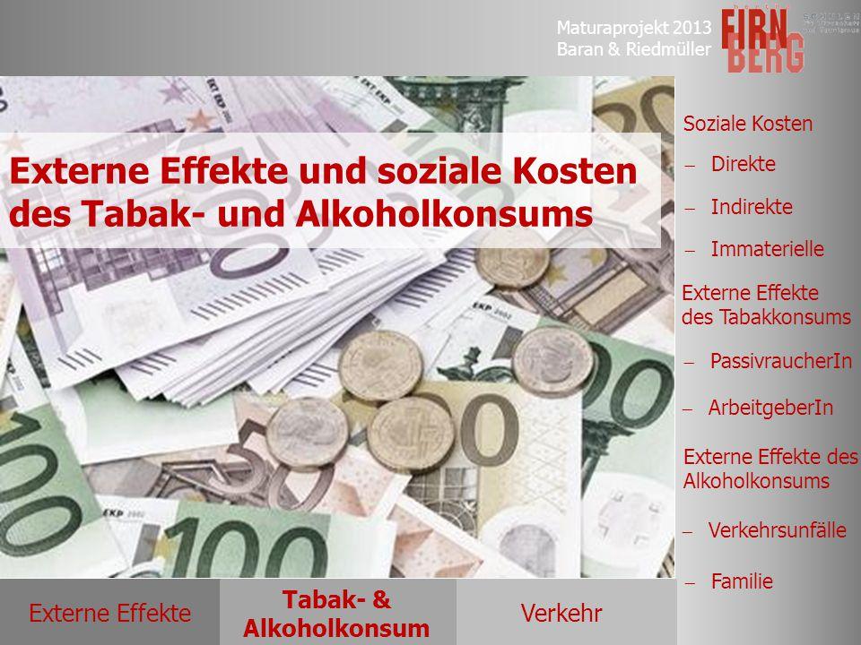 Externe Effekte und soziale Kosten des Tabak- und Alkoholkonsums