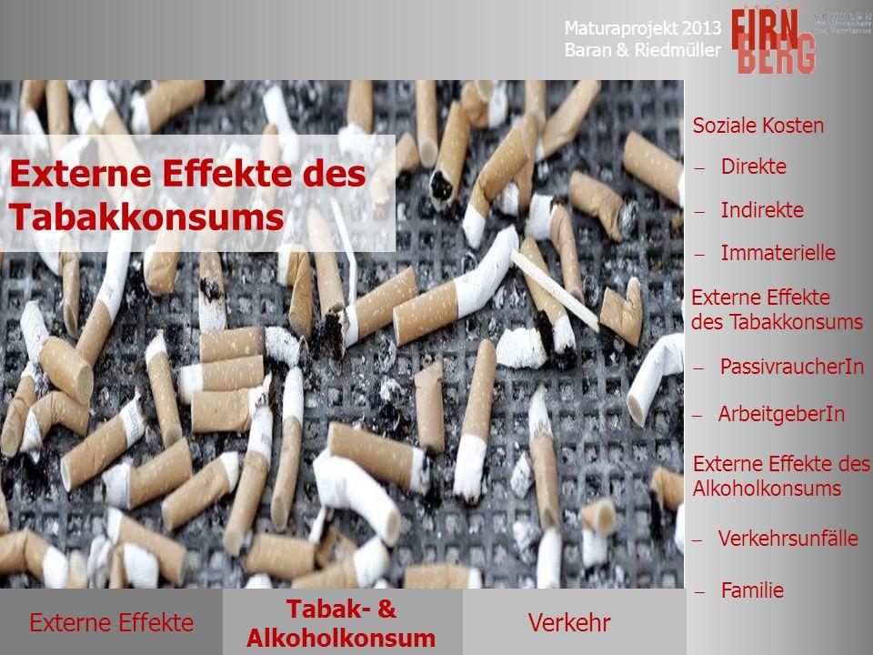 Externe Effekte des Tabakkonsums