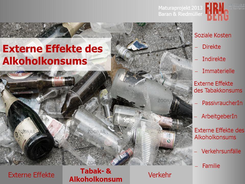 Externe Effekte des Alkoholkonsums