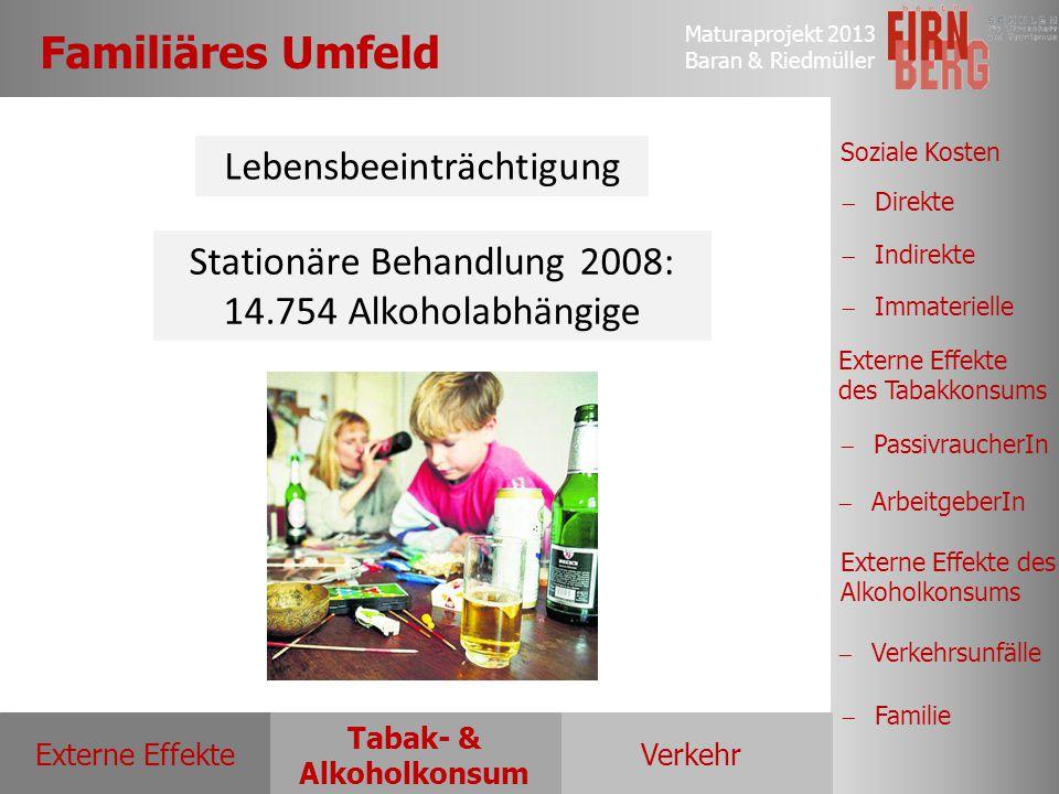 Familiäres Umfeld Lebensbeeinträchtigung Stationäre Behandlung 2008: