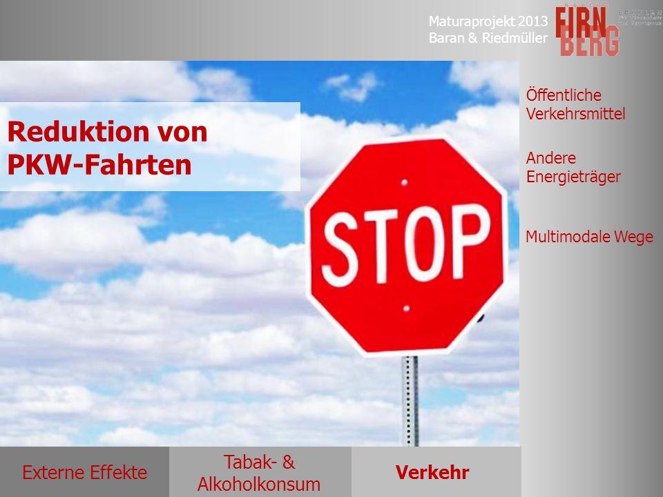 Reduktion von PKW-Fahrten