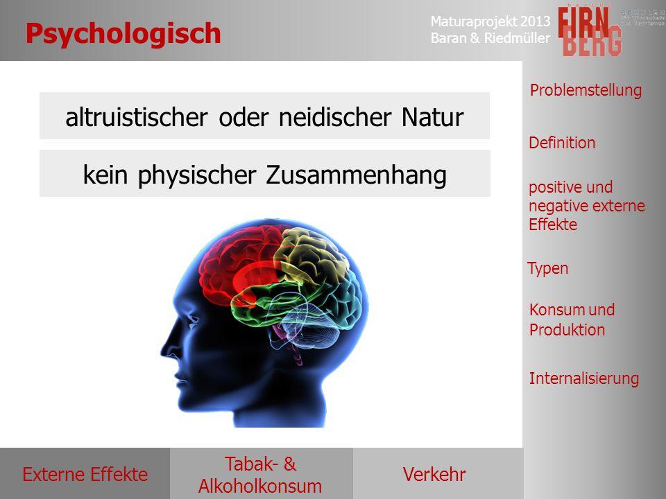Psychologisch altruistischer oder neidischer Natur