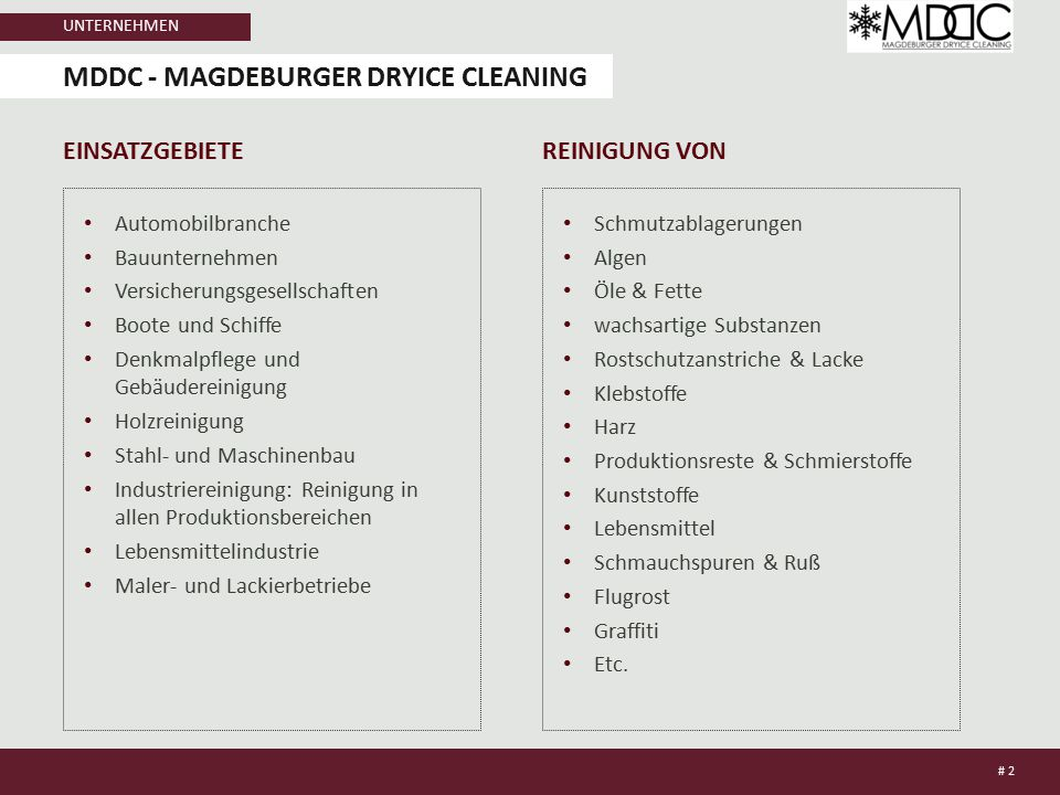 MDDC - Magdeburger dryice cleaning