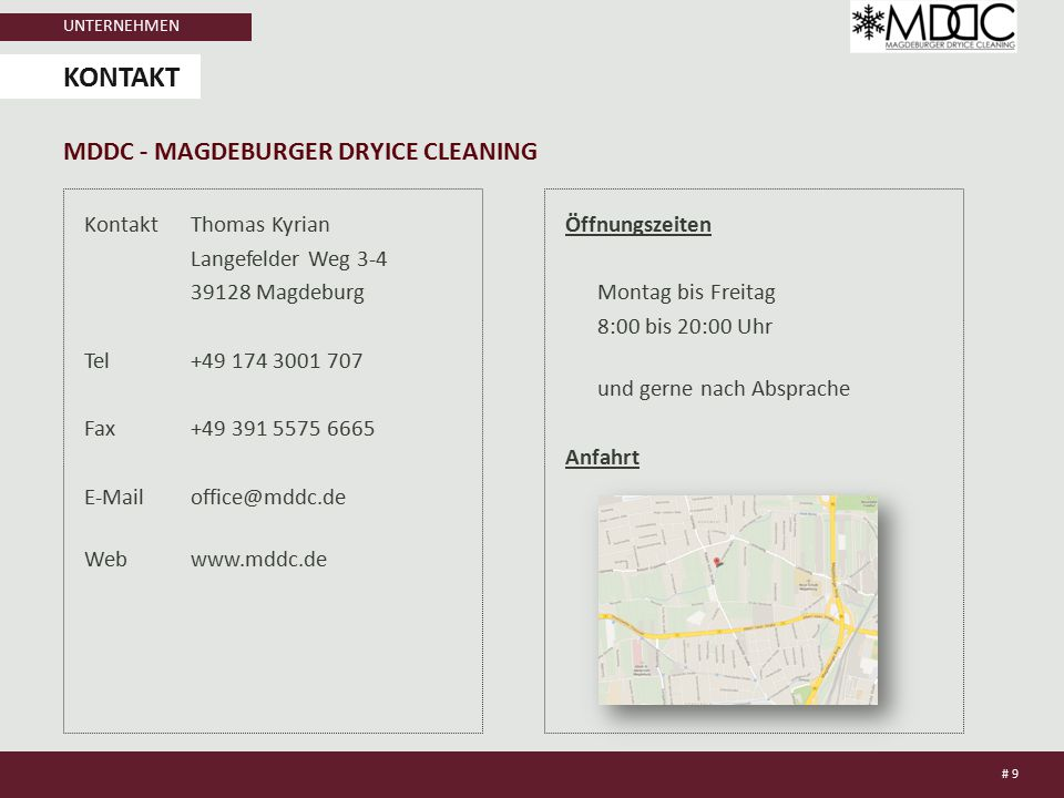 kontakt MDDC - Magdeburger dryice cleaning
